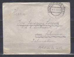 Austria Cover Posted Anzbach , Niederoesterreich 1913 To Dalmatia - 1850-1918 Empire