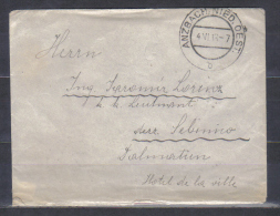 Austria Cover Posted Anzbach , Niederoesterreich 1913 To Dalmatia - Covers & Documents