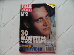 Revue Programme Television Tele Video N 2 Paul Newman Jaquette Casette 1988 - Télévision