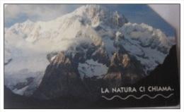 TELECOM ITALIA - 5,00€  La Natura Ci Chiama - Il Monte Bianco  Usata Scad. 30/6/2005 - Italia