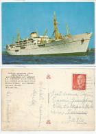 "NAVI (249) - M.V. ""KARADENiZ - M.V. AKDENiZ - Turkish Maritime Lines DENiZYOLLARI - FG/Vg Da Spagna - Dampfer"