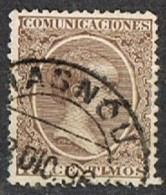 Sello 15 Cts Alfonso XIII Pelon, Fechador MASNOU (barcelona), Num 219 º - 1889-1931 Reino: Alfonso XIII