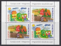 Europa Cept 2006 Romania M/s ** Mnh (26514A) - Europa-CEPT