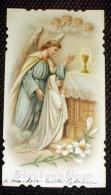 Superbe Image Pieuse 1906 Communion Eglise De Méry Sur Oise ( 95  Val D´Oise ) - Images Religieuses