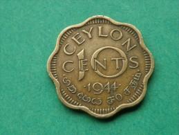 SRI LANKA -CEYLAN- 10 CENTS  1944- GEORGE VI   KM 118 - Sri Lanka