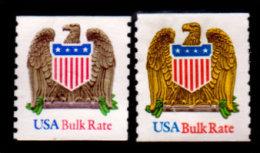 USA,1991-93, Scott #2603, 2604, Eagle And Shield, Used, NH, VF - United States