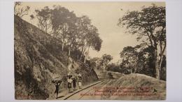 GUINEE Entre KONKOURE Et BOULOUKOUNTOU Chemin De FER De KONAKRY Afrique CPA Animee Postcard - Guinée