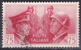 Regno D'Italia, 1941 - 75c Fratellanza Italo-Tedesca - Nr.456 Usato° - 1900-44 Vittorio Emanuele III