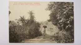 GUINEE Route Du NIGER Entre DOUNE Et TIMBO 676 Afrique Occidentale CPA Animee Postcard - Guinée