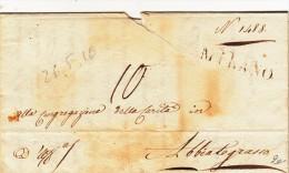 Prefilatelica, Milano Per Abbiategrasso, 1820 Con Contenuto - Italia
