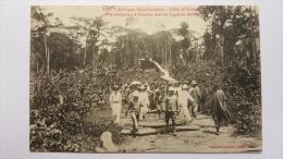 COTE D'IVOIRE Plantations D'EBOBO Sur La Lagune ABI 935 Afrique CPA Animee Postcard - Ivory Coast
