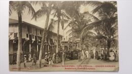 COTE D'IVOIRE - GRAND BASSAM Boulevard TREICH LAPLENE Afrique 958 CPA Animee Postcard - Ivory Coast