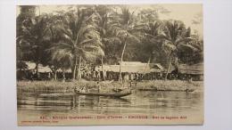 COTE D'IVOIRE - EBOINDA Sur La Lagune ABI Afrique Occidentale 941 CPA Animee Postcard - Ivory Coast