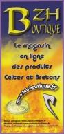 Marque-page °° BZH Boutique En Ligne - Produits Celtes Et Bretons - Flyer 10x21 - Bookmarks