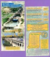 Marque-page °° Merveilles Du Canal Du Midi - Béziers Croisières - Flyer 10x21 - Bookmarks