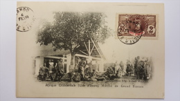 COTE D'IVOIRE Marche Du GRAND BASSAM Afrique Occidentale CPA Animee Postcard - Ivory Coast