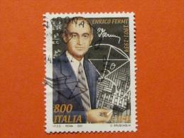 ITALIA USATI 2001 - ENRICO FERMI - SASSONE 2566 - RIF. G 1939 LUSSO - 6. 1946-.. Repubblica