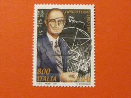 ITALIA USATI 2001 - ENRICO FERMI - SASSONE 2566 - RIF. G 1940 LUSSO - 6. 1946-.. Repubblica