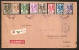 Nrs. 411 T/e/m 418 AANGETEKEND Verstuurd  Van BRUXELLES Dd. 28/1/1936 Naar KOLN ( DUITSLAND ) ! ZIE LOT 220 - Belgique