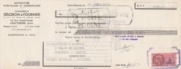 Lettre Change 30/4/1951 SELORON & FOURNIER Outillage Quincaillerie SAINT ETIENNE Loire Pour Poitiers - Lettres De Change