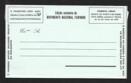 PORTUGAL Aerogramme Free Military C1960s Unused STK#X20824 - Postal Stationery