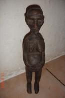Statuette Femme Fertile Côte D'Ivoire Début XXè .H:36 Cms . - Art Africain