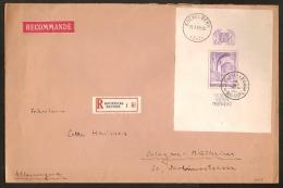 Blok 9 Op Brief AANGETEKEND Verstuurd  Van BRUXELLES Dd. 21/7/1938 Naar KOLN ( DUITSLAND ) ! - Belgique