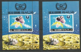 RASALKHAIMA - MNH - Space - Apollo 11 - Perf. + Imperf. - Space