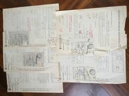 1942 -43 N. 5 Moduli CASSA NAZ. MALATTIE Addetti COMMERCIO Versamenti Contributi - Italia