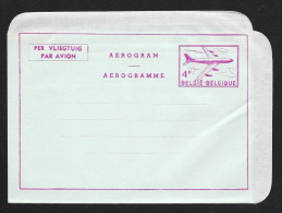 BELGIUM Aerogramme 4F Airplane C1950s Unused STK#X20839 - Aerogrammes