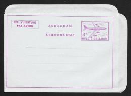 BELGIUM Aerogramme 4F Airplane C1950s Unused STK#X20841 - Aerogrammes