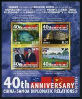 SAMOA - 2015 - 40e Ann Des Relations Diplomatiques Avec La Chine - BF Neufs // Mnh - Samoa