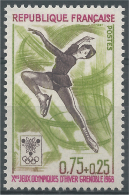 France, Figure Skating, Winter Olympics, Grenoble, France, 1968, MNH VF - Ongebruikt