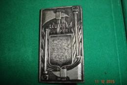 Sauver Ou Périr (pompiers)rectangulaire Bronze Non Signé.2,5x4,5 Cms.14 Grs - Professionals / Firms