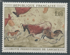 France, Lascaux Caves Paintings, 1968, MNH VF - France