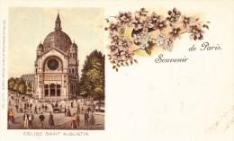 Eglise Saint Augustin - Souvenir De PARIS - Carte Colorée - Eglises