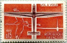 N° Yvert 1340 - Timbre De France (1962) - MNH - Aviation Légère Et Sportive - Vol à Voile (DA) - Unused Stamps