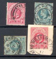 NATAL Used In CAPE (interprovincial Postmarks), 4 Stamps - Zuid-Afrika (...-1961)