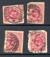 NATAL Used In NATAL (interprovincial Postmarks), 4 Stamps - Zuid-Afrika (...-1961)