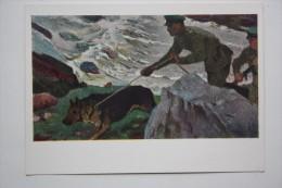 East-European Shepherd - Frontier Guard  - Old USSR Postcard - 1965 - Polizia – Gendarmeria