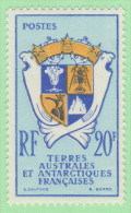 FSA SC #15 MNH  1959 Coat Of Arms, CV $18.00 - French Southern And Antarctic Territories (TAAF)