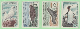 FSA SC #16-19 MLH  1960 Sea Leopard,Weddell Seal, King Penguin, CV $120.50 (if NH) - French Southern And Antarctic Territories (TAAF)