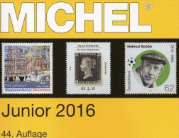 Junior MlCHEL Deutschland Briefmarken Katalog 2016 Neu 10€ D DR 3.Reich Danzig Saar Berlin SBZ DDR BRD 978-3-95402-136-9 - Télécartes