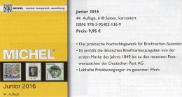 Junior MlCHEL Deutschland Briefmarken Katalog 2016 Neu 10€ D DR 3.Reich Danzig Saar Berlin SBZ DDR BRD 978-3-95402-136-9 - Documents Historiques
