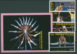 Elfenbeinküste 1983 Olympiade Seoul 970/73 B Block 30 B Postfrisch (R22033) - Côte D'Ivoire (1960-...)