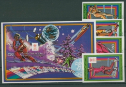 Komoren 1988 Olympiade Calgary 807/10 B Block 244 B Postfrisch (R22056) - Komoren (1975-...)