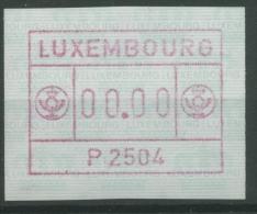 Luxemburg 1983 Automatenmarke 1 I Mit Abart Werteindruck 00,00 Postfrisch - Vignette