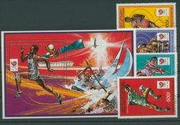 Komoren 1988 Olympiade Seoul 812/15 A Block 249 A Postfrisch (R22057) - Komoren (1975-...)