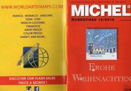 Briefmarken Rundschau MICHEL 12/2015 Neu 6€ New Stamp Of The World Catalogue And Magacine Of Germany ISBN4 194371 105009 - Hist. Wertpapiere - Nonvaleurs