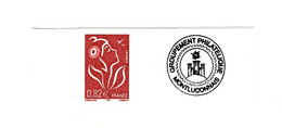 Lamouche 0.82 € ITVF Personnalisé Autoadhésif Grande Vignette YT 3802B . Voir Scan . Cote YT : 15 € Maury N° 33 : 1 - Personalized Stamps